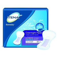 Tena/Serenity Overnight Pads, Case/84 (3 bags of 28)