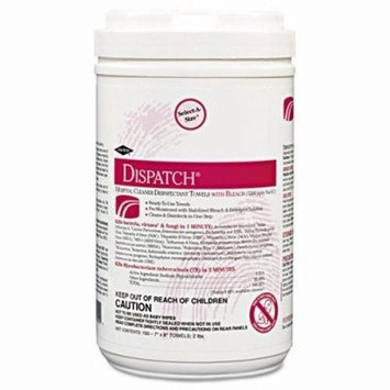 Caltech COX69260 Hospital Cleaner Disinfectant Towels with Bleach Soft Pack 720/Carton, N/A