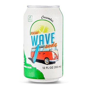 Wave Soda Sparkling Juice, Cucumber, 12 Ounce Cans (Pack of 12)