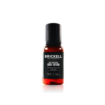 Brickell Men's Deep Moisture Body Lotion for Men – 2 oz – Natural & Organic [Scented]