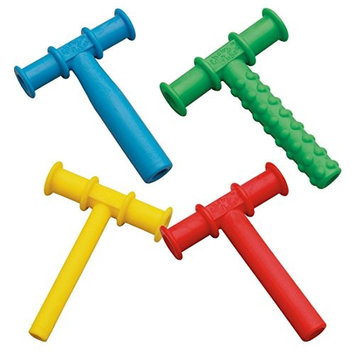 Chewy Tubes Teether Combo, 4 Pack (Green/Yellow)