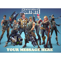 Fortnite Personalized Edible Cake Topper Icing Sugar Sheet A4 1/4 Paper