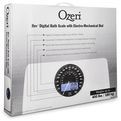Ozeri Rev Digital Bathroom Scale With Electro Mechanical