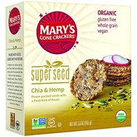 Mary's Gone Crackers Organic Super Seed Crackers, Chia & Hemp, 5.5 Oz