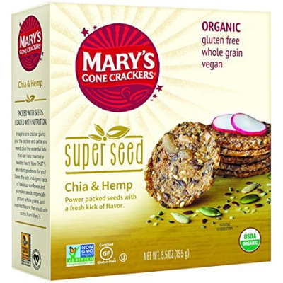 Mary's Gone Crackers Organic Super Seed Crackers, Chia & Hemp, 5.5 Oz