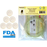 Tubing for Medela Pump in Style Advanced Breastpump Released After Jul 2006 Plus 6 Membranes in Retail Pack. Replaces Medela Tubing and Medela Membrane. BPA Free. Made By Maymom (2 Tubes and 6 Membranes)