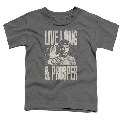 Star Trek/Prosper S/S Toddler Tee Charcoal Cbs1577 [clothing_size_type: clothing_size_type-regular]