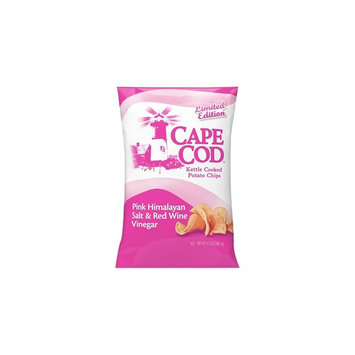 Cape Cod Pink Himalayan Salt & Red Wine Vinegar Kettle Cooked Potato Chips 6.5oz , pack of 1