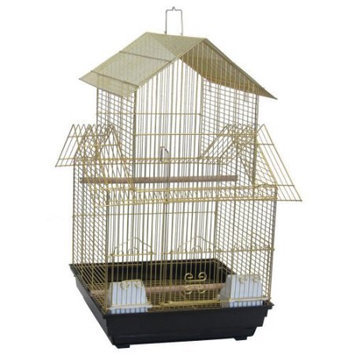 Yml Group YML 3/8 in. Bar Spacing Pagoda Top Small Bird Cage