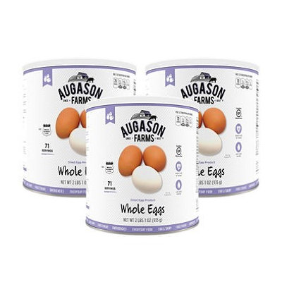 Augason Farms Dried Whole Eggs 6 Cans Combo (Pack of 6)