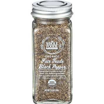 Whole Foods Market, Organic Fair Trade Black Pepper, 1.55 oz