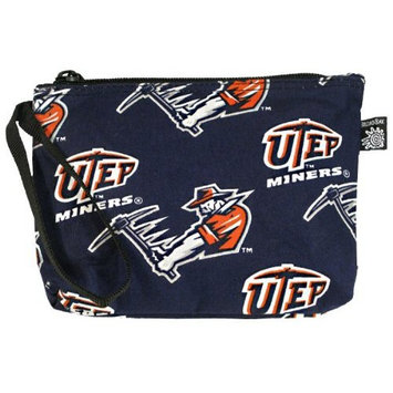 UTEP Makeup Pouch-Travel Clutch - Coin Purse Wristlet UTEP Miners