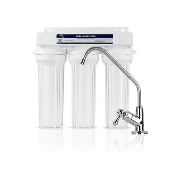 Apex Water Filters 3- Stage Under the Counter Water Filter System - Alkaline