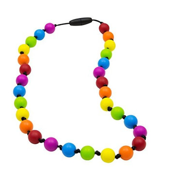 Sensory Oral Motor Aide Chewelry Necklace - Chewy Jewelry for Sensory-Focused Kids with Autism or Special Needs - Calms Kids and Reduces Biting/Chewing - Rainbow Necklace with Knots