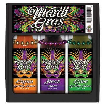 HSH Mardi Gras 3x5 Mini Grilling Gift Set w/Beads