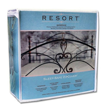 Twin 9 Inches / Sleep Safe ZipCover Resort Waterproof Bed Bug, Dust Mite, and Allergen Proof Mattress Encasement / Allergy Protector Zippered Cover