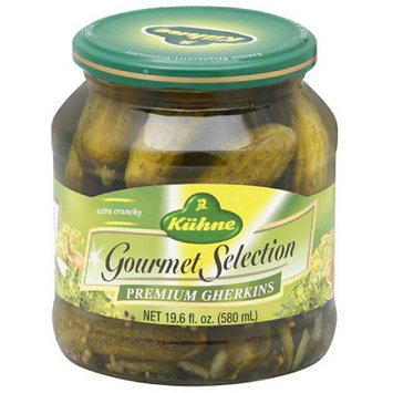 Kuhne Gourmet Selection Premium Gherkins, 19.6 fl oz, (Pack of 12)