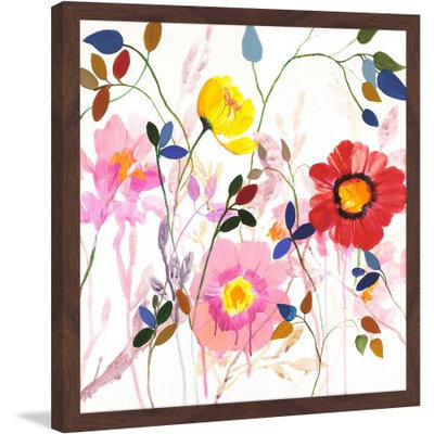 Marmont Hill Inc Marmont Hill - 'Woodland Garden' by Julie Joy Framed Painting Print