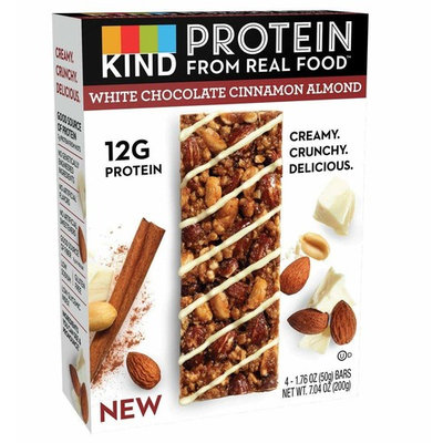 KIND Protein Bars, White Chocolate Cinnamon Almond, Gluten Free, 12g Protein, 1.76oz, 4 Count (6 Pack)