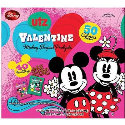 Utz Valentine Mickey Shaped Pretzels, 0.5 oz, 40 count
