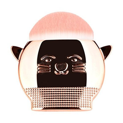 KaiCran Cute Cat Makeup Brush Foundation Powder Contour Powder Blush Makeup Cosmetic Brush