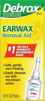 Debrox 6.5% Strength Carbamide Peroxide Earwax Removal Aid, 0.5 oz. Drops