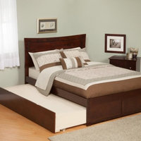 Metro Twin Platform Bed with Open Foot Board in Espresso