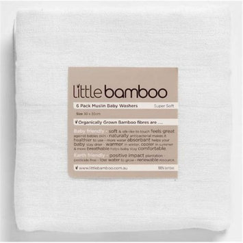 Little Bamboo Baby 101 Muslin Washers- 6-pack