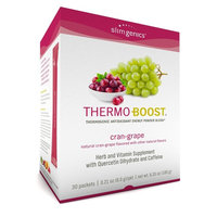 SlimGenics Thermo-Boost ® | Thermogenic Powder Energy Drink Mix – Antioxidant, Anti-Aging Properties - Metabolism Booster For Weight Loss - Fights Fatigue and Inflammation (Cran-Grape Flavor)