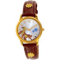 Winnie The Pooh Girl's WTP045 Gold Leather Quartz Fashion Watch