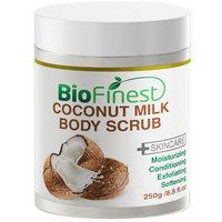 Biofinest Coconut Milk Body Scrub - with Dead Sea Salt, Almond Oil, Vitamin E- Best For Dry Skin/ Cellulite/ Stretch Marks/ Eczema / Acne (250g)