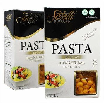 Gluten-Free Elbows Corn Pasta, Kosher for Passover, GMO Free, Certified Gluten Free, 100% Natural, By Sotelli