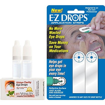 Vision Clarity Eye Drops with 1% Carnosine (NAC Drops), Lubricants, and EZ Drops Eye Drop Applicator Combo