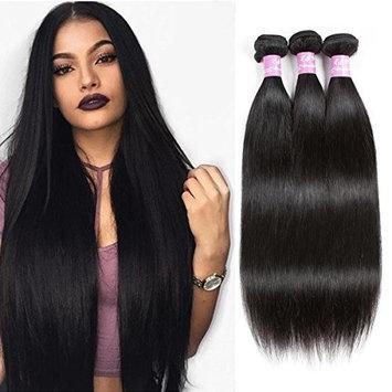 LMY Hair 7A Brazilian Virgin Straight Hair 3Bundles 100% Unprocessed Human Hair Extensions Natural Color