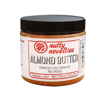 Nutty Novelties Classic Almond Butter - High Protein, Sweet Almond Butter - No Added Sugar - All-Natural, Pure Almond Butter Free of Cholesterol & Preservatives - Vegan Almond Butter - 15 Ounces [All-Almonds]