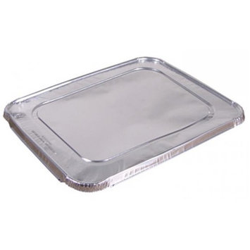 Pactiv Y101230 CPC Half Size Aluminum Foil Steam Table Pan Lid, Case of 100
