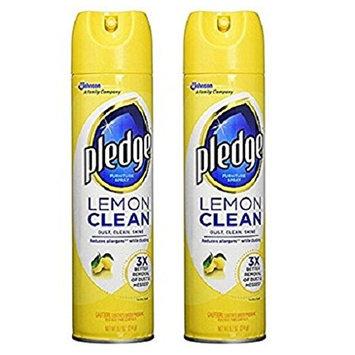 Pledge YnTFXl Lemon Clean Furniture Spray, 4-Pack