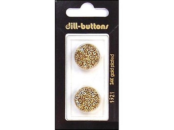 Dill Buttons Of America Dill Buttons 18mm 2pc Shank Antique Gold