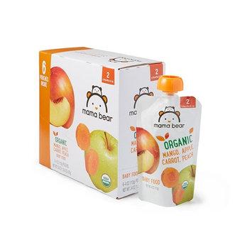 Amazon Brand - Mama Bear Organic Baby Food, Stage 2, Mango Apple Carrot Peach, 4 Ounce Pouch