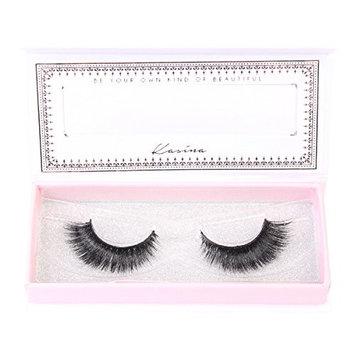Kasina Mink Eyelashes 100% Original Mink Fur Hand-made False Eye lashes, 1 Pair (#005 2NE1)