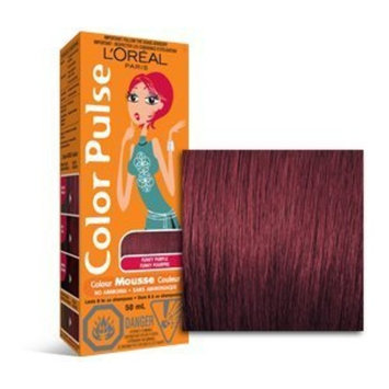 Color Pulse By Loreal, Concentrated Non-Permanent Hair Color Mousse, Funky Purple, 1 Ea