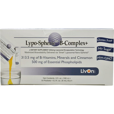 LivOn Laboratories Lypo-Spheric B-Complex plus 30 Packets