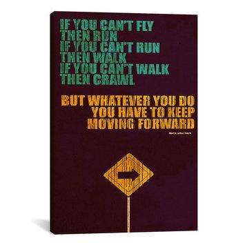 iCanvas 'Keep Moving Forward' by Budi Satria Kwan Textual Art on Canvas