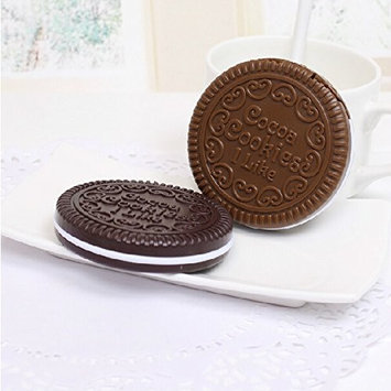 MotorFansClub Mini Cookie Shaped Design Mirror Makeup Comb (Random delivery)