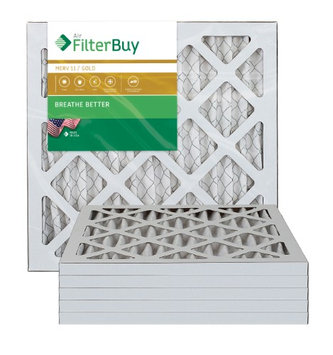 AFB Gold MERV 11 13.25x13.25x1 Pleated AC Furnace Air Filter. Filters. 100% produced in the USA. (Pack of 6)
