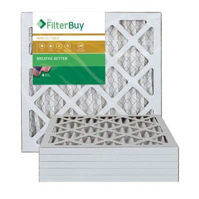 10x10x1 AFB Gold MERV 11 Pleated AC Furnace Air Filter. Filters. 100% produced in the USA. (Pack of 6)