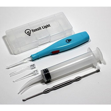 Tonsil Light - Tonsil Stone Remover + Irrigation Syringe + Premium Stainless Steel Tool (Color May Vary)