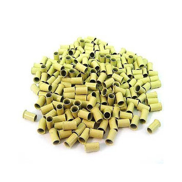 200 PCS 3.5 mm Blonde Color Copper Tubes Beads Locks Micro Ring for I Stick Tip Hair Extensions by Hair Extension Accessories