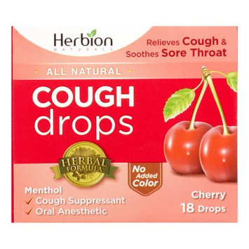 Herbion Cough Drops, Cherry, 18 Ct