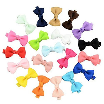 20pcs Cute Bowknot Small Hair Bows Hair Pins Alligator Clips Barrettes for Girls Kids Toddlers Women Multi-color Durable No Fraying No Slipping